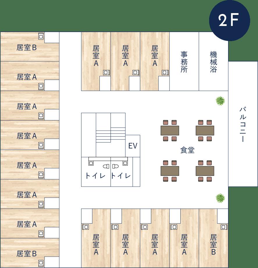 ユニットハウス羽曳野フロアマップ